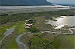 Excursions aériennes Turbo Beaver près de la rivière Knik durant l'été dans le centre-sud de l'Alaska