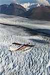 Vol Turbo Beaver voir glacier Knik durant l'été dans le centre-sud de l'Alaska