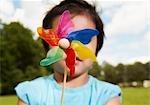Little Boy Holding a Pinwheel