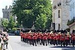 Relève de la garde au château de Windsor, Windsor, Berkshire, Angleterre