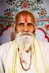 Portrait of a sadhu, Pushkar, Ajmer, Rajasthan, India
