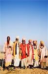 Portrait of sadhus, Pushkar, Ajmer, Rajasthan, India