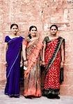 Portrait of three women standing, Jodhpur, Rajasthan, India