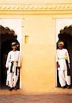 Two men standing in a fort, Meherangarh Fort, Jodhpur, Rajasthan, India