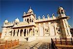Fassade eines Tempels, Jaswant Thada, Jodhpur, Rajasthan, Indien