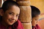 Child monks in a monastery, Likir Monastery, Ladakh, Jammu and Kashmir, India