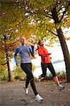 Frauen, Rennen, Green Lake Park, Seattle, Washington, USA