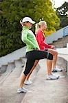 Women doing Lunges, Green Lake Park, Seattle, Washington, USA