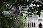 Signe Post, Salisbury, Wiltshire, Angleterre