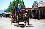 Horse Drawn Wagon, Tombstone, Cochise County, Arizona, USA