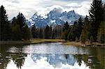 Grand Teton Mountains, Grand Teton National Park, Wyoming, USA