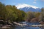 Kayak sur la rivière Arkansas, Salida, Chaffee County, Colorado, Etats-Unis