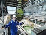 Apprentice engineer in Charging Hall
