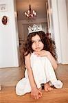 Prinzessin Mädchen nachdenklich