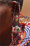 Close-up of Masai Jewelry at Magadi Lake Village, Kenya