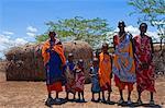 Portrait of Masai at Magadi Lake Village, Kenya