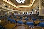 États-Unis, Virginia, Richmond, Virginia State Capitol, vider les sièges de la chambre de la Chambre des représentants