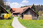 Rustic Farm Buildings, Lindau, Bavaria, Germany