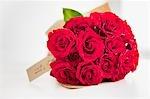 Rote rose Bouquet mit Geschenkkarte