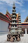 Paar chinesische Laternen bei Wat Po, Bangkok, Thailand