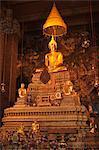Or Bouddha au Wat Po, Bangkok, Thaïlande