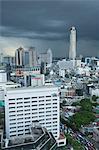 Nuages de tempête sur Bangkok, Thaïlande