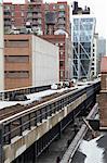 Section non développée de la High Line, New York City, New York, USA