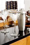Martini gin avec oignons
