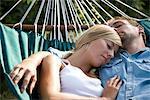 Gros plan du Couple se trouvant sur le hamac