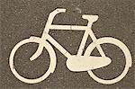 Vélo Lane signe, Amsterdam, Pays-Bas