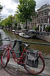 Nahaufnahme des Fahrrades, Amsterdam, Niederlande