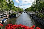 Blick auf Kanal, Amsterdam, Niederlande