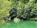 Vue panoramique du lac et des arbres, La Spezia, Province de La Spezia, Ligurie, Italie