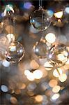Glas-Spielerei mit Baum / Fee Licht Silber