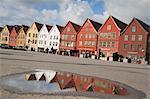 Bryggen, Bergen, Hordaland, Norwegen