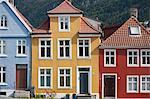 Gebäude in Bergen, Hordaland, Norwegen