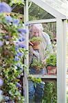 Jardinier odeurs d'herbes fraîches