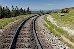 Voies ferrées Brocken, Brocken, le Parc National du Harz, Basse-Saxe, Allemagne