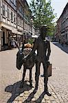 Bronze Jackass Statue, Osterode am Harz, Osterode, Harz, Lower Saxony, Germany