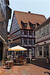 Sidewalk Cafe, Osterode am Harz, Osterode, Harz, Lower Saxony, Germany