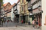 Historic Market Square, Quedlinburg, Harz District, Harz, Saxony Anhalt, Germany