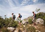 Hikers on coastal path