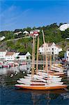 Bateaux dans le port, Risor, Aust-Agder, Norvège