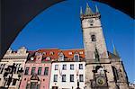 Prague Astronomical Clock, vieille ville, Old Town, Prague, République tchèque