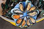 Moules au marché de fruits de mer, Station Mahachai, Mahachai Samut Sakhon, Thailand
