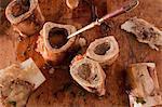 Still Life of Cooked Beef Marrow Bones