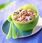Salade de riz et de surimi
