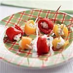 Paprika gefüllt mit Ziegenkäse