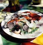 Salade de langouste, parmesan et truffe