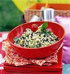Salade de courgettes et de céréales